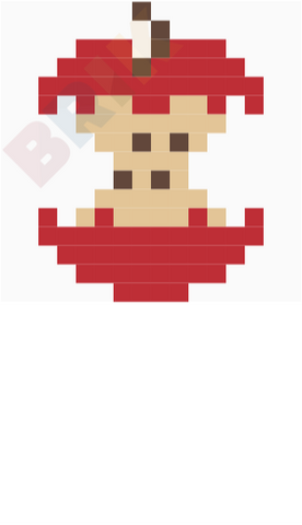 Eat a Red Apple Day Pixel Art