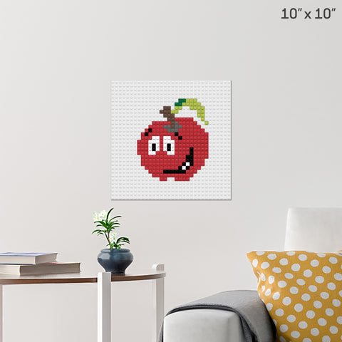 Eat a Red Apple Day Brick Poster