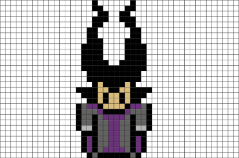 Maleficent Pixel Art