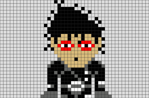 Edward Scissorhands Pixel Art
