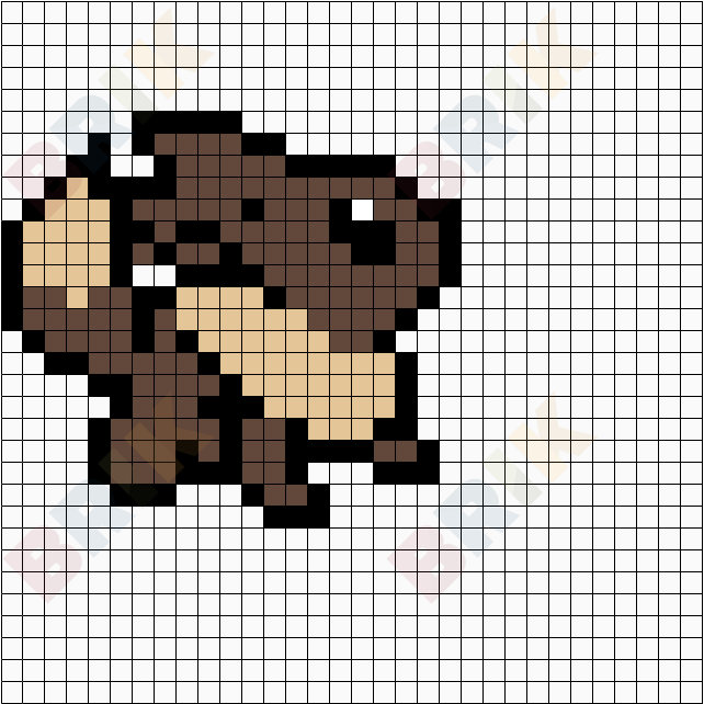 Pokemon Evoli Pixel Art