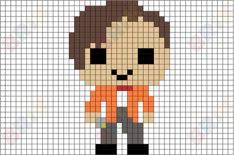 Eleventh Doctor Pixel Art