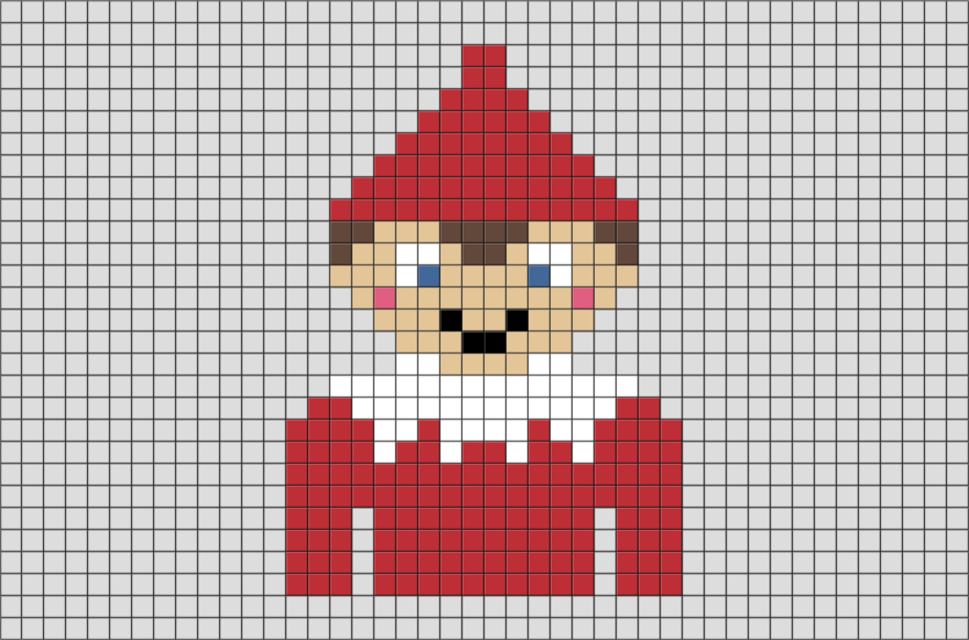 Elf On The Shelf Pixel Art Brik