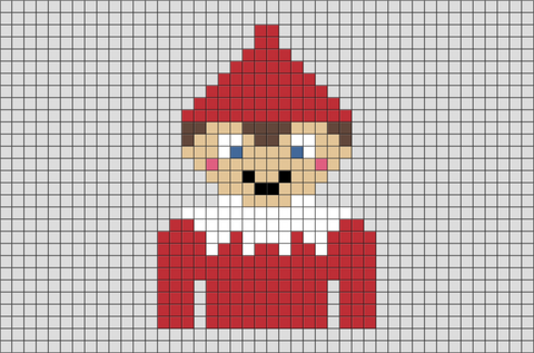 Elf on the Shelf Pixel Art