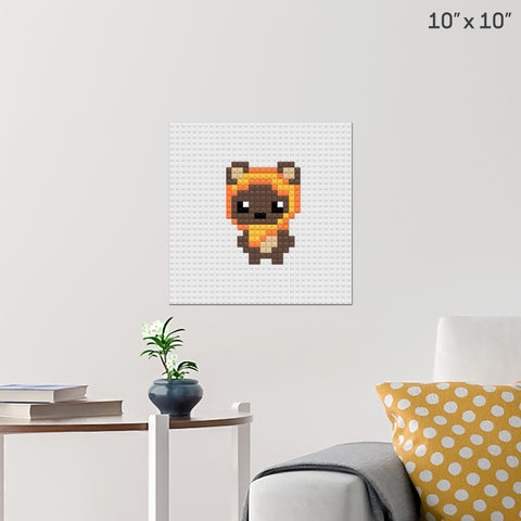 Ewok Star Wars Brick Poster