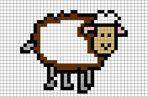 Sheep Pixel Art
