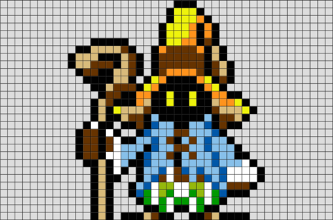 Final Fantasy Vivi Pixel Art