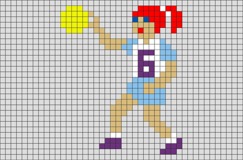 Soccer Goalkeeper Pixel Art