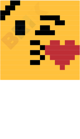 Face Blowing A Kiss Pixel Art