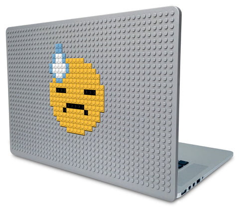 Face With Cold Sweat  Emoji Laptop Case