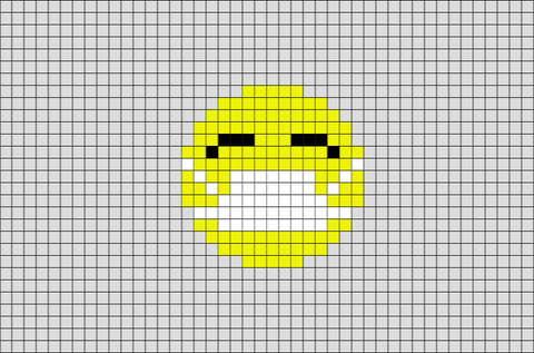 Face With Medical Mask Emoji Pixel Art