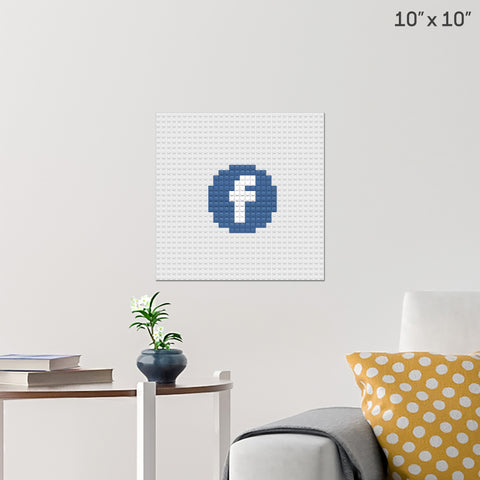 Facebook Icon Brick Poster