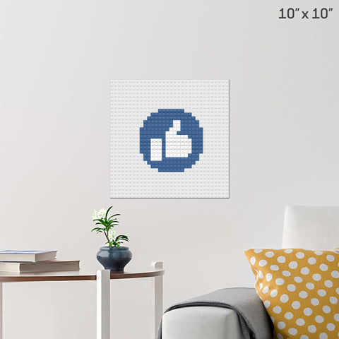 Facebook Like Button Brick Poster