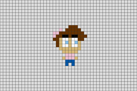 Fairly Odd Parents Timmy Pixel Art