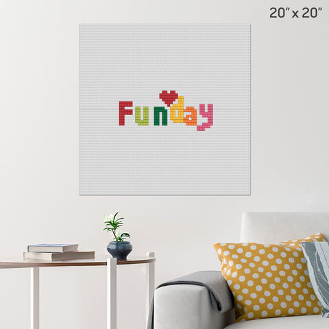Family Fun Day Brick Poster