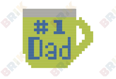 Father's Day Pixel Art