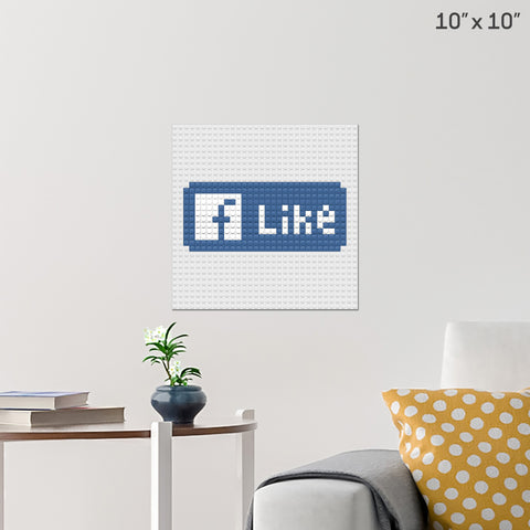 FB Like Brick Poster
