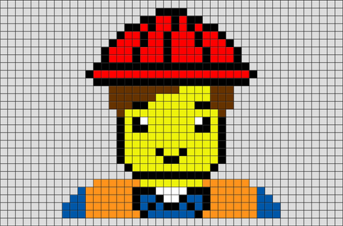 The Lego Movie Emmet Pixel Art