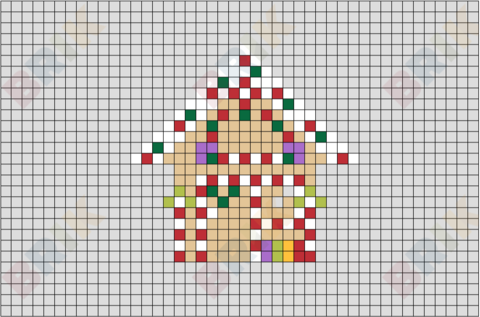 Candy House Pixel Art