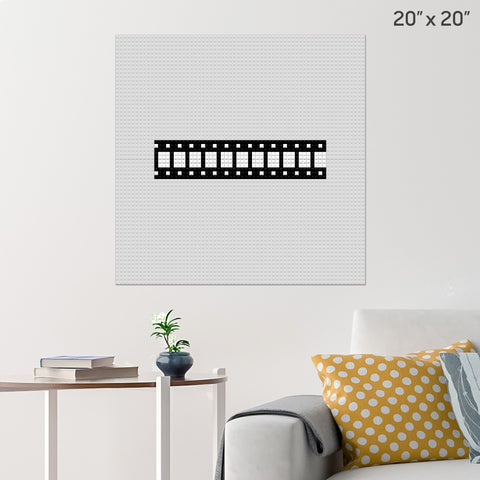Film Strip Brick Poster
