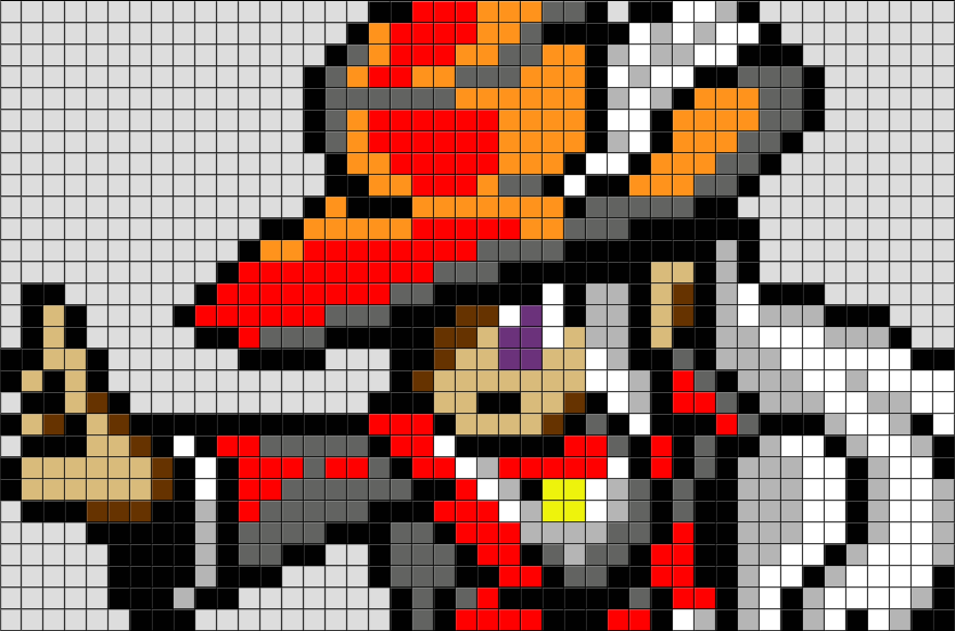 Final Fantasy Red Mage Pixel Art Brik