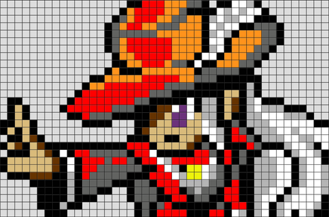 Final Fantasy Red Mage Pixel Art