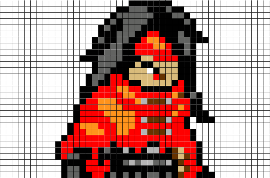Final Fantasy Vincent Valentine Pixel Art Brik
