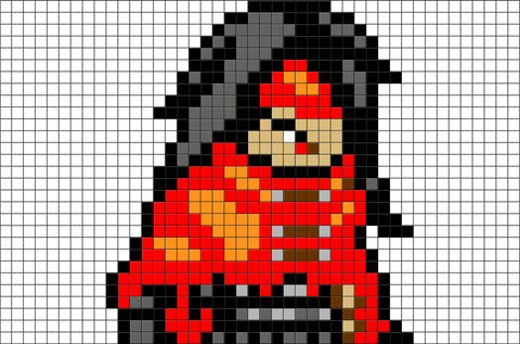 Final Fantasy Vincent Valentine Pixel Art