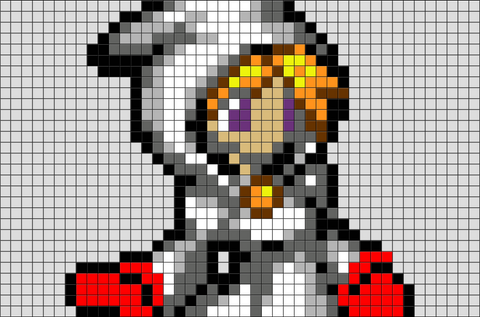 Final Fantasy White Mage Pixel Art