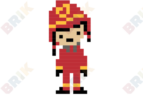 Firefighter Pixel Art