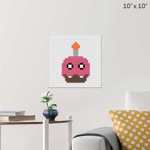 Five Nights At Freddy's Cupcake Brick Poster