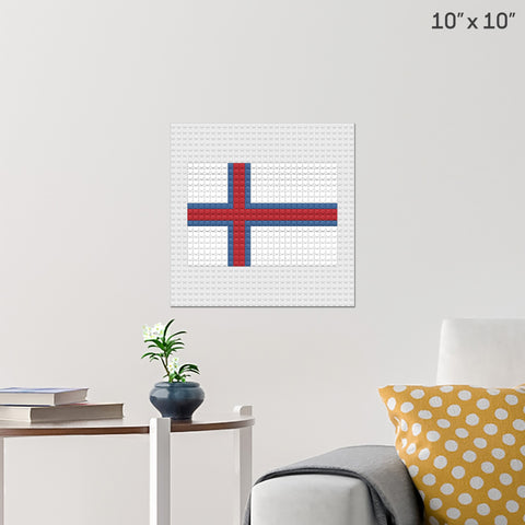 Flag of Faroes Brick Poster