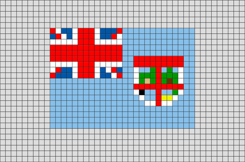 Flag of Fiji Pixel Art