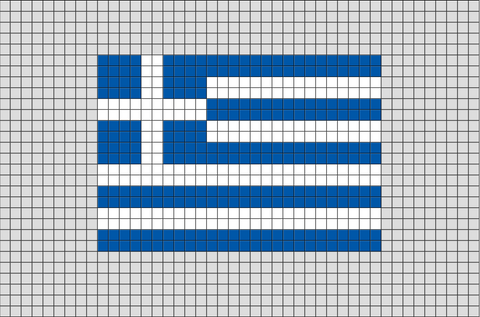 Flag of Greece Pixel Art