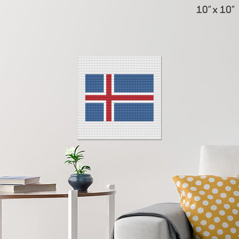 Flag of Iceland Brick Poster