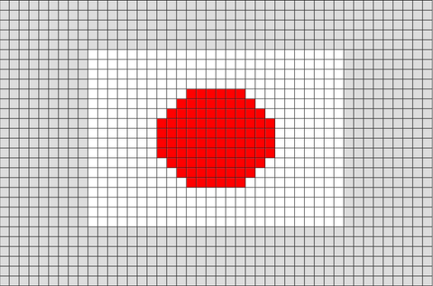 Flag of Japan Pixel Art