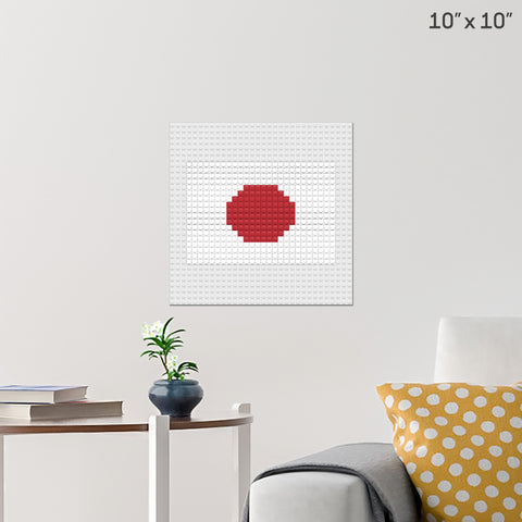 Flag of Japan Brick Poster