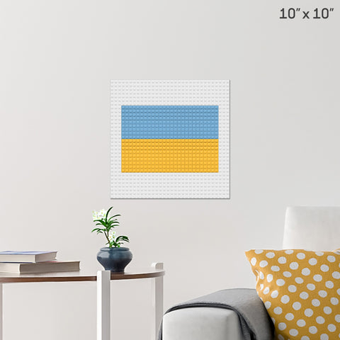 Flag of Ukraine Brick Poster