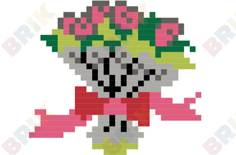 Flower Bouquet Pixel Art