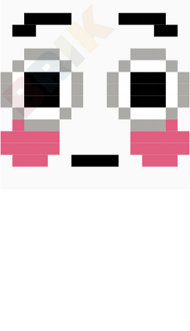 Flushed Face Pixel Art