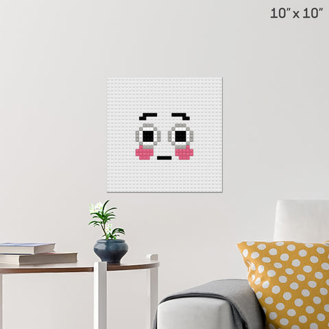 Flushed Face Brick Poster