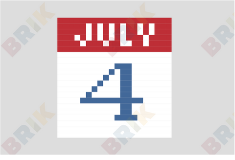 Fourth of July Pixel Art