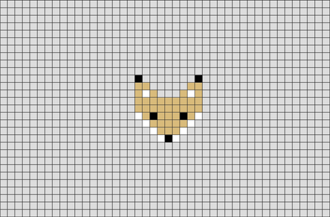 Fox Face Pixel Art