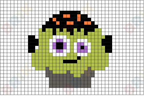 Frankenstein Day Pixel Art