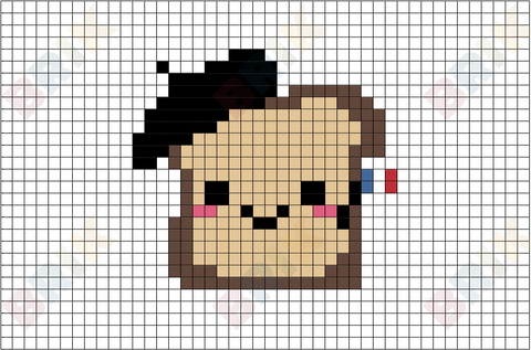 French Toast Pixel Art