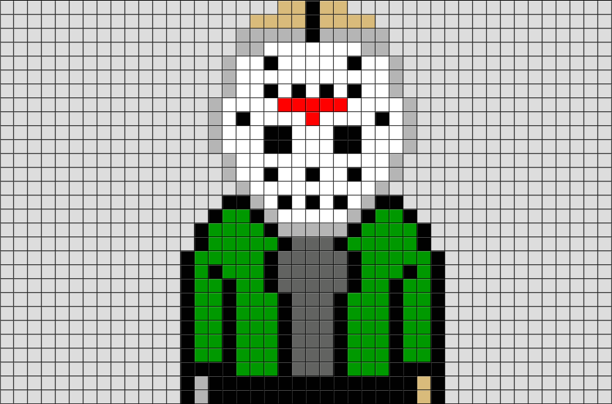 friday the 13th jason pixel art  u2013 brik