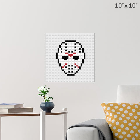 Friday the 13th Mask Brick Poster