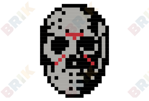 Friday the 13th Pixel Art