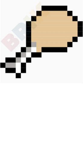 Fried Chicken Pixel Art