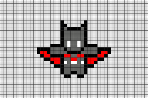 Future Batman Bead Sprite Pixel Art